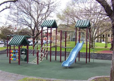Eades Place - Split-Level Playground on Rubber Base