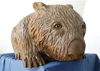 Wooden Wombat Sculpture