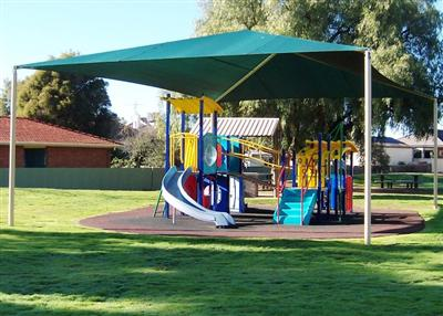Apex Park Hip & Ridge Shade Structure in Echuca