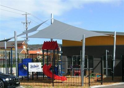 Shade Sails in Child Care Centre