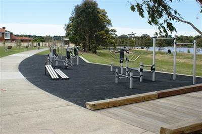 Outdoor Gym Equipment at David Collins Reserve