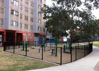 Outdoor Gym Equipment at Prahran Housing Development